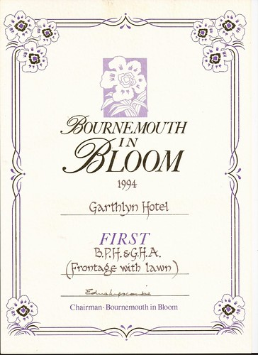 1994 Garthlyn Hotel - Winner of BPH&GHA frontage with lawn by Rad Howard