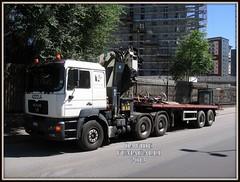 MAN FE460A (DaveFuma) Tags: man truck opera crane wide lorry fe load stradale gru trattore krane 460 autocarro mezzo f2000 trasporto effer eccezionale schwertransporte retrocabina