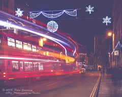 Oxford Christmas Lights (Peter Greenway) Tags: longexposure nightphotography streetphotography christmaslights nighttime oxford citylights lighttrails citycentre christmastime carfax winterlights oxfordatnight lighttraces