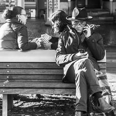 Amsterdam, Spui (Bart van Dijk (...)) Tags: city ladies girls urban bw man monochrome amsterdam mobile bench blackwhite phone zwartwit citylife streetphotography squareformat dailylife calling stad mobiel vrouwen dames zw bankje mannen bellen stadsarchief monochroom peopleinthecity straatfotografie peopleinthestreets dagelijksleven mensenopstraat stadsleven peopleinamsterdam stadsarchiefamsterdam mensenindestad vierkantformaat 11format bartvandijk breeblebox menseninamsterdam cityarchivesamsterdam straatnamenenstadsplekken