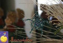 Snowflake azul (Macradabra) Tags: snowflake christmas navidad regalos regalitos decoracion macram hechoencolombia macradabra
