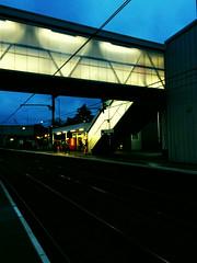 St Albans Station at Dawn (Deydodoe) Tags: morning travel bridge light station dawn early platform rail railway commute commuting hertfordshire stalbans herts thameslink 2015 stalbansstation