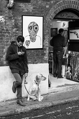 Text before walkies (dunhoy) Tags: dogs bricklane londonstreet urbanlifeinmetropolis leicammonochromsummilux50asph