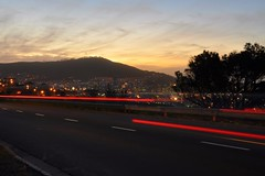 Road to the Mother City (DJ Cockburn) Tags: africa road sunset car night southafrica lights twilight capetown motionblur signalhill westerncape n2 nelsonmandelaboulevard