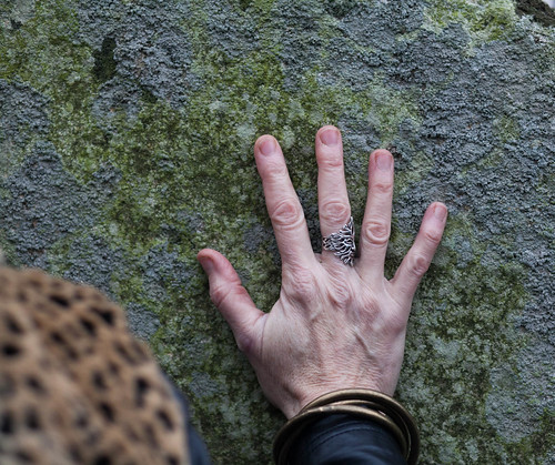 Greenman ring on Bluestones on the Winter Solstice at Stonehenge 2015