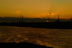 5Yodo River at sunset (anglo10) Tags: sunset japan river