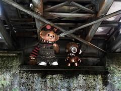Jareth and rusty i (Monkey Culture) Tags: monchhichi toho daisuke toy stuffedtoy toyart toyphotography