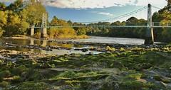 Dinckley Suspension Bridge, River Ribble, Lancashire, UK (BrianDerbyshire) Tags: uk lancashire ribble river riverribble dinkley hurstgreen bridge suspensionbridge dinckleysuspensionbridge canon canondslr autumn landscape
