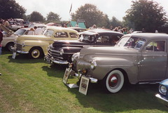 1940s American car line-up (andreboeni) Tags: classic american car cars automobile automobiles voitures autos automobili classique voiture americain retro auto oldtimer desoto custom s8 plymouth p15 special deluxe coupe sedan