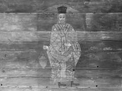 Detail Wall Church (Miranda Ruiter) Tags: bucarest romania church detail icons iconography wood wall orthodox blackandwhite village museum