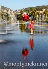 ballon girl in Nice (MontyMcKinnen) Tags: antebes southoffrance juanlespins cannes nice breasts