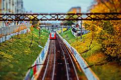 Moscow nerves (allejandrine) Tags: railway train moscow landscape city autumn tiltshift