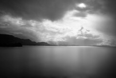 fjord light (5imon87) Tags: fjord water nikon nikond60 d60 light seascape ferry boat norway nature clouds blackandwhite bnw weather grey sea europe scene scenic scenery scandanavia