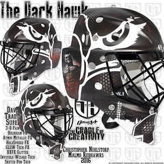 The Dark Hawk (DAVEART MaskGallery) Tags: nihlstorp malm redhawks shl daveart