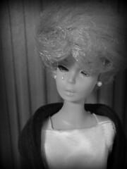Ashamed & Grief Stricken (Foxy Belle) Tags: barbie political vote elect doll cry black white vintage bubble cut