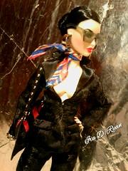 Ms. Ayumi (krixxxmonroe) Tags: ira d ryan photography krixx monroe styling fashion royalty nu face fr2 opium ayumi black brocade suit by the vogue hong kong