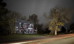 The House on the Road (Devon OpdenDries) Tags: decay house old rotting urbanexploration nightphotography lightpainting longexposure canon 5d mkii abandoned creepy