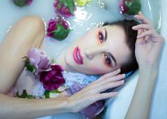 47 (jacekpoplawski) Tags: bath water flowers fashion glamour beauty portrait