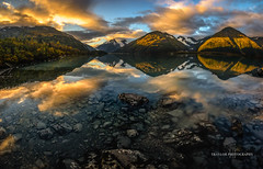 Look into Portage (Traylor Photography) Tags: portageglacier autumn portagelake sunrise sun reflection water mountains anchorage clouds morning fall alaska rocks unitedstates us