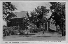 Oxley and Mack Halls, Women's Dormitories, Ohio State University, Columbus, Ohio (Date Unknown) (Sent from the Past) Tags: postcard postcards whiteborder whiteborderera dateunknown unknowndate unused blackandwhite realphoto osu ohiostateuniversity ohiostate columbus columbusohio ohio colleges dormitory dorm dormroom womensdormitory oxleyhall oxley mack mackhalls dividedback santway santwayphotocraftcompany santwayphotocraft santwayphotocraftcompanyinc velvatone