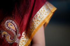 DSCF9392 (tzeyangtan) Tags: deepavali indian traditional red gold details smiles