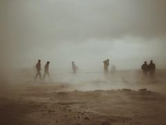 Geysers (Feldore) Tags: geyser iceland spooky figures smoke stream steamy icelandic feldore mchugh em1 olympus 1240mm sepia mysterious