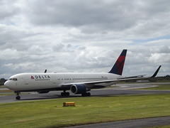 N156DL Boeing 767 Delta Air Lines Inc (Aircaft @ Gloucestershire Airport By James) Tags: manchester airport n156dl boeing 767 delta air lines inc egcc james lloyds