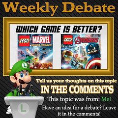 Weekly Debate- Which Game is Better- Lego Marvel Superheroes or Lego Marvel's Avengers? (Luigi Fan) Tags: lego marvel superheroes marvels avengers video game