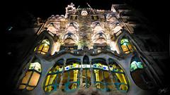 8/365 Casa Batll (Gaud) (adriangawl) Tags: casa batll batllo house night color colors city barcelona gaud gaudi spain espaa catalunya shadow autunm architecture architect