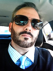 He Gave Her The Once Over, Twice (DetroitDerek Photography ( ALL RIGHTS RESERVED )) Tags: allrightsreserved 313 detroit motown detroitderek selfie self me moi iphone digital october 2016 male man beard x johndoe nothdr song lyric michigan midwest usa america sunglasses face