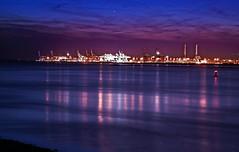 Le Havre - Terminal maritime (o.penet) Tags: elements nuits nikon estuaires seine terminalmaritime activit new ciels skyes nights seascapes reflections lights lumiresdenuit