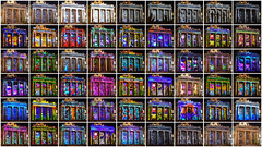 remapped abstract pop facades collage (pbo31) Tags: california sanmateocounty color night dark black november 2016 fall nikon d810 boury pbo31 bayarea redwoodcity cityhall display magiclantern 3d mapping historic old museum facade plaza colorful collage purple centennial
