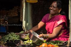Pink.    Coonoor (Claire Pismont) Tags: pismont pink clairepismont streetshot street streetphotography sari vegetable veggies travel travelphotography tamilnadu colorful couleur color colour woman asia asie inde india
