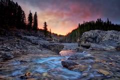 Elbow Falls Explored! (John Andersen (JPAndersen images)) Tags: alberta elbowfalls hdr mountains sunrise waterfall