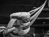 """The old pulley"" (Terje Helberg Photography) Tags: bw blackandwhite bnw coast coastal coastalenvironement dock drydock industry maritim maritime monochrome pulley rope shackle ship block hordaland bergen laksevåg samsung nx30 nx"