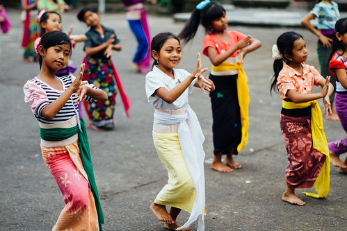 Students Learning Legong Dance, Bali Indonesia