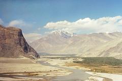 (obnimakina) Tags: pentaxmx film 2016 pakistan gilgitbaltistan skardudistrict mountains valley river rocks shigarvalley snowpeak trees water outdoor clouds sky karakoram