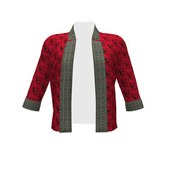 #SAGE Jacket Wild Flight Over Poppy Red Trimmed with KRLG Fabric Pattern_38 (mom_de_bomb) Tags: isew sewing sage fabricaddict sew textiledesign sproutpatterns spoonflower thedailyseam sprout pdfpattern indiedesigners sewingpattern patterns