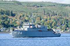 Latvian Minesweeper 'Imanta' leaving Faslane. (.....cowboybuilder.....) Tags: imanta jointwarrior162 latviannavalforces m04 minesweeper riverclyde warship