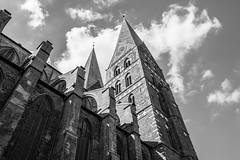 Lübeck - Marienkirche (superbart77) Tags: architecture blackandwhite city clouds lübeck marienkirche church historiccitycenter oldtown