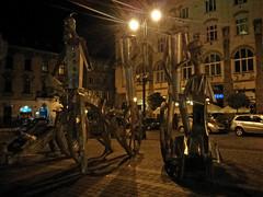Statues, Plac Szczepaski, Krakow (stephengg) Tags: krakow cracow poland statues plac szczepaski