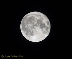 The moon (super ?) (Roger Dickens) Tags: moon lunar closest nighttime pentax300mm 17xconverter manualexposure supermoon