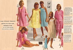 Nightwear: Wards Catalogue 1966 (lynn_morton3500) Tags: lady ladies nightdress nightie negligee pyjamas pajamas vintagefashion fashion vintage retro retrofashion model 1960s 1966 peignoir