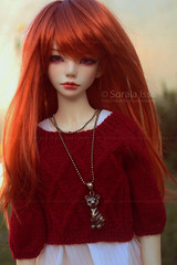 Hello Friday! :D ( S o r a i a ~) Tags: bjd custom doll dollmore redhead monique wig zaoll luv volks forever21 ball jointed