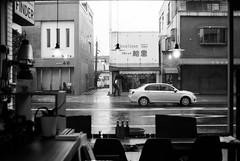 city in the rain (HiroAranoJPN) Tags: nikonf rolleirpx100 bw saga finder