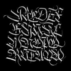 More ABCs. (Syntax One) Tags: alphabet calligraphy fraktur blackletter explorations caps