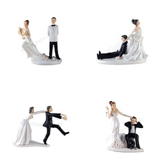 Funny Polyresin Figurine Wedding Cake Toppers Bride Groom Humor Marriage Favor (couponrainbow) Tags: bride cake favor figurine funny groom humor marriage polyresin toppers wedding