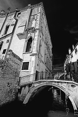 Venice in black&white (Katka S.) Tags: venice venezia city canal architecture old bw black white bridge high contrast from below fotocompetitionbronze