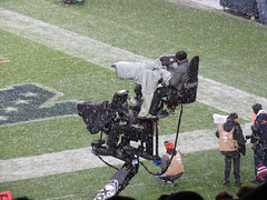 cameramen (timp37) Tags: soldier field chicago illinois december 2016 bears 49ers football game cameramen nfl winter snowing