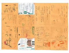 Lists (Jennifer Lea) Tags: line paper yellow envelope words handwriting